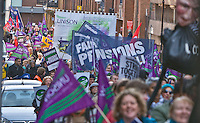 Birmingham 'Pension Justice' Day Of Action 30 Nov 2011 .March from Lionel Street to National Indoor Arena for Rally