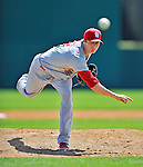 12 March 2012: St. Louis Cardinals pitcher Shelby Miller in action during a Spring Training game against the Washington Nationals at Space Coast Stadium in Viera, Florida. The Nationals defeated the Cardinals 8-4 in Grapefruit League play. Mandatory Credit: Ed Wolfstein Photo