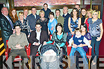 6322-6326.Congratulations - Jackie Rusk and Paul Mullins from Ballinorig, seated centre having a wonderful time with family and friends in Gallys Bar & Restaurant following the Christening of their son David in St. Brendan's Church on Friday..