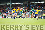 Eddie Horan Kerry in action against  Clare in the Munster Minor Football Final at Fitzgerald Stadium on Sunday.