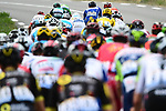 Geraint Thomas (WAL) Team Sky Yellow Jersey amongst the peloton during Stage 15 of the 2018 Tour de France running 181.5km from Millau to Carcassonne, France. 22nd July 2018. <br /> Picture: ASO/Alex Broadway | Cyclefile<br /> All photos usage must carry mandatory copyright credit (&copy; Cyclefile | ASO/Alex Broadway)