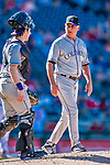 30 July 2017: Colorado Rockies Manager Bud Black walks to the mound during a game against the Washington Nationals at Nationals Park in Washington, DC. The Rockies defeated the Nationals 10-6 in the second game of their 3-game weekend series. Mandatory Credit: Ed Wolfstein Photo *** RAW (NEF) Image File Available ***