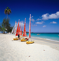 Karibik, Kleine Antillen, Grenada: Grand Anse Beach | Caribbean, Lesser Antilles, Grenada: Grand Anse Beach with Dinghies
