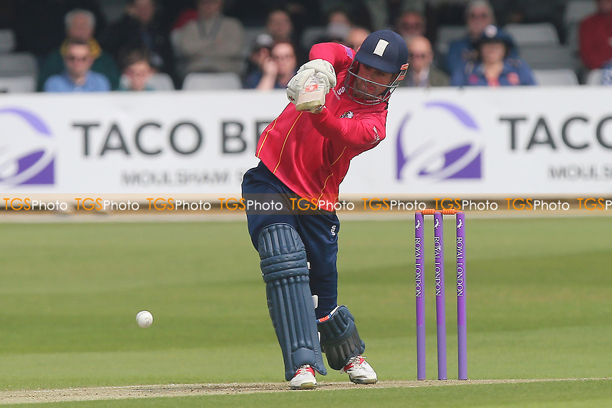 Alastair Cook hits four runs for Essex during Essex Eagles vs Hampshire, Royal London One-Day Cup Cricket at The Cloudfm County Ground on 30th April 2017