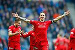 4.3.2018: Rangers v Falkirk Scottish Cup QF<br /> Aaron Muirhead celebrates Falkirk's goal