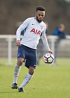 Anton Walkes of Tottenham Hotspur during the U23 - Premier League 2 match between Tottenham Hotspur U23 and Everton at Tottenham Training Ground, Hotspur Way, England on 15 January 2018. Photo by Vince  Mignott / PRiME Media Images.