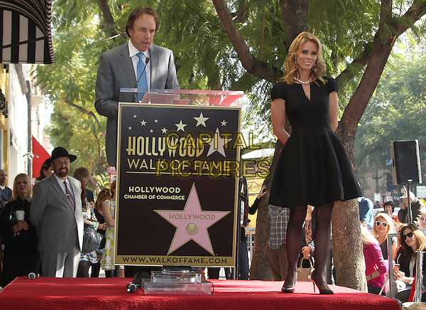 HOLLYWOOD, CA - January 29: Kevin Nealon, Cheryl Hines at the Cheryl Hines Star on the Hollywood Walk of Fame, Hollywood,  January 29, 2014<br /> CAP/ADM/FS<br /> &copy;Faye Sadou/AdMedia/Capital Pictures