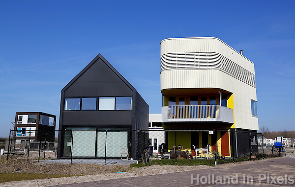 Huizen naar eigen ontwerp in het Homeruskwartier in Almere