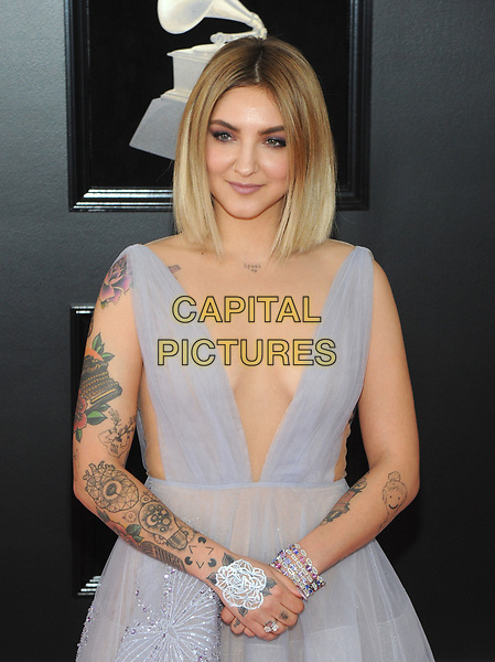 NEW YORK, NY - JANUARY 28: Julia Michaels at the 60th Annual GRAMMY Awards at Madison Square Garden on January 28, 2018 in New York City. <br /> CAP/MPI/JP<br /> &copy;JP/MPI/Capital Pictures