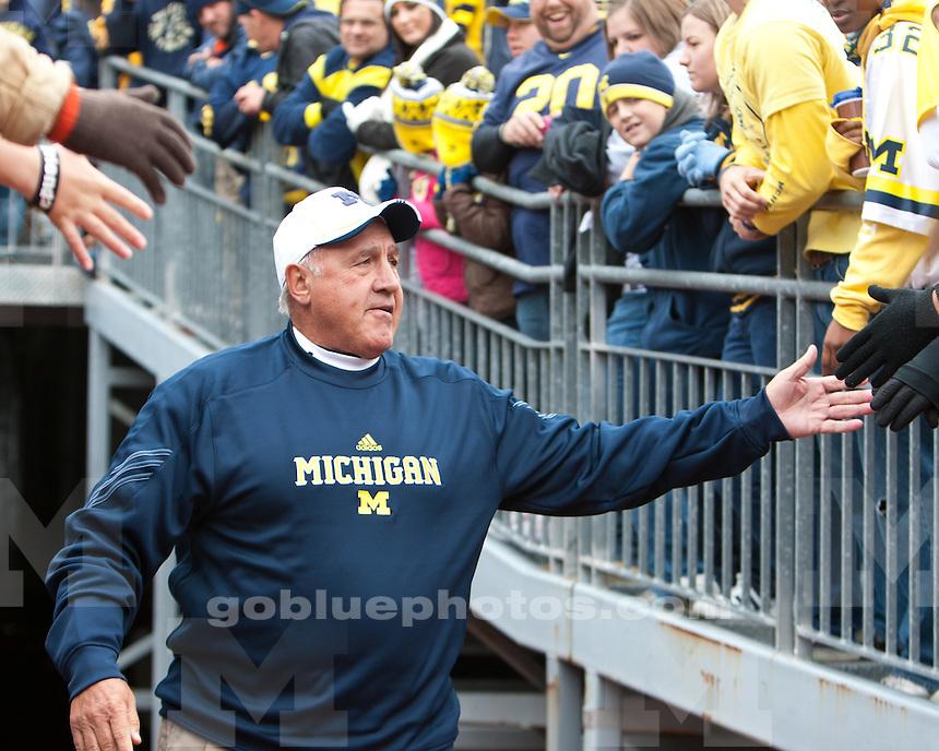 The University of Michigan football team beat Minnesota 58-0 at Michigan Stadium in Ann Arbor, Mich., on October 1, 2011.