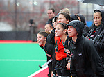 20 NOV 2011: The University of Maryland bench cheers on their team against the University of North Carolina during the Division I Women's Field Hockey Championship held at Trager Stadium on the University of Louisville campus in Louisville, KY.  Maryland defeated North Carolina 3-2 in overtime to win the national title. Jonathan Palmer/ NCAA Photos