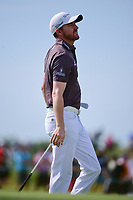 Jimmy Walker (USA) watches his approach shot on 7 during the Wednesday practice day of the 117th U.S. Open, at Erin Hills, Erin, Wisconsin. 6/14/2017.<br /> Picture: Golffile | Ken Murray<br /> <br /> <br /> All photo usage must carry mandatory copyright credit (&copy; Golffile | Ken Murray)