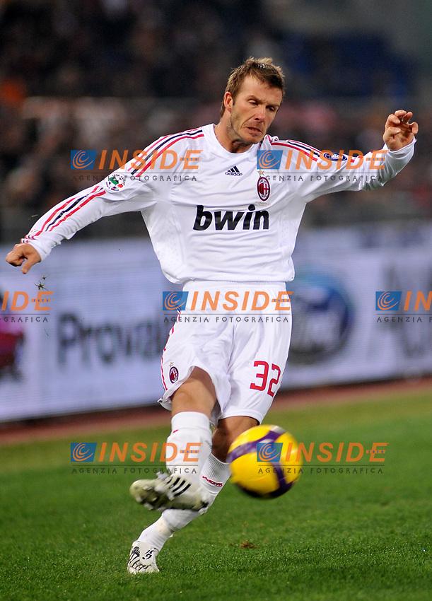 David Beckham (Milan)<br /> Roma 11/1/2009 Stadio &quot;Olimpico&quot; <br /> Campionato Italiano Serie A 2008/2009 <br /> Roma Milan (2-2)<br /> Foto Massimo Oliva/Insidefoto
