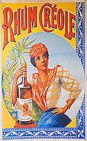 France/DOM/Martinique/ Le François: Domaine de l'Acajou - Vieilles affiches de publicité pour le Rhum