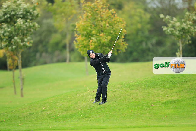 Paul Stevenson (Portadown G.C) on the 14th during Round 3 of The Cassidy Golf 103rd Irish PGA Championship in Roganstown Golf Club on Saturday 12th October 2013.<br /> Picture:  Thos Caffrey / www.golffile.ie