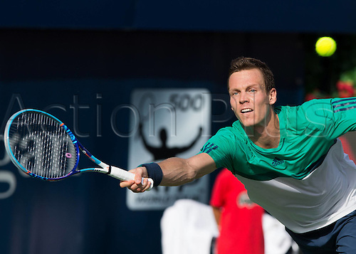 25.02.2016. Dubai, UAE.  Tomas Berdych (CZE) ATP Dubai Duty Free Tennis Championships, Dubai United Arab Emirates - 25 February 2016. Kyrgios beat Berdych 6-4, 6-4 to enter th semi-finals.