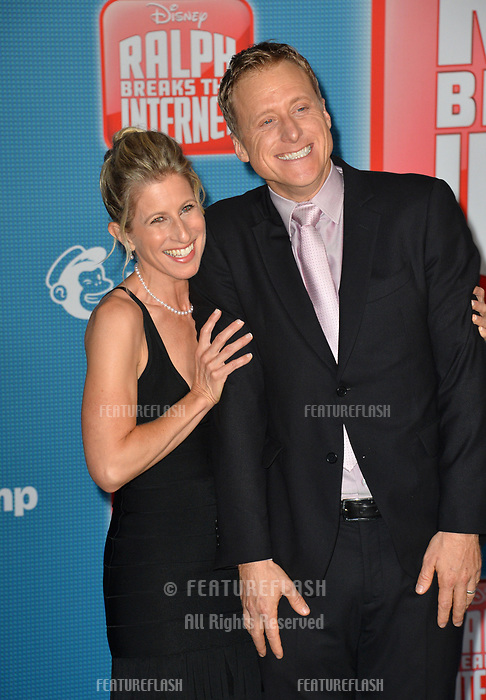 LOS ANGELES, CA. November 05, 2018: Alan Tudyk &amp; Charissa Barton at the world premiere of &quot;Ralph Breaks The Internet&quot; at the El Capitan Theatre.<br /> Picture: Paul Smith/Featureflash