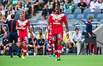 Stockholm 2014-07-28 Fotboll Superettan Hammarby IF - Assyriska FF :  <br /> Assyriskas Kyle Konwea ser deppig ut<br /> (Foto: Kenta J&ouml;nsson) Nyckelord:  Superettan Tele2 Arena Hammarby HIF Bajen Assyriska AFF depp besviken besvikelse sorg ledsen deppig nedst&auml;md uppgiven sad disappointment disappointed dejected