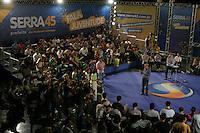 """SAO PAULO, 02 DE SETEMBRO DE 2012. ELEICAO 2012 JOSE SERRA.  O candidato do PSDB a prefeitura de Sao Paulo, Jose Serra, durante o encontro """"Fala, juventude"""" em que foi sabatinado por jovens sobre diversos temas, no  Hsbc Arena,  em Santo Amaro,  na zona sul da capital paulista na tarde  deste domingo. FOTO ADRIANA SPACA - BRAZIL PHOTO PRESS"""