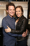 """Joseph Taylor and Betsy Morgan attend a press reception for the cast of The Tooting Arts Club production of """"Sweeney Todd''  at AOC L'aile ou la Cuisse on February 2, 2017 in New York City."""