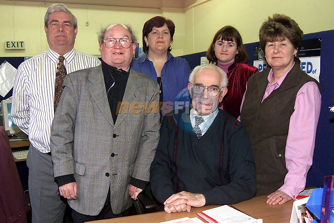 Drogheda Disability Interest Group. L/R, Colin McAllister, chairperson, Peter Leech, Mildred Carroll, coordinator, Noel McKenna, Annemarie Larkin, administrator and Patsy Owens..Picture: Paul Mohan/Newsfile