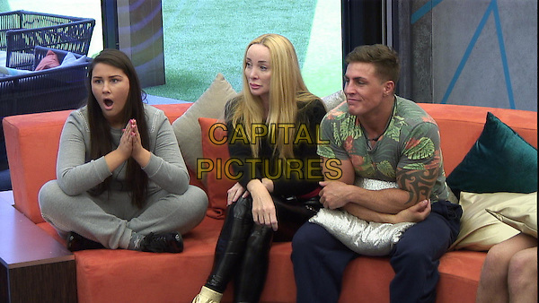 Chloe, Eileen and Marc.<br /> Big Brother Summer 2015 - Day 20<br /> *Editorial Use Only*<br /> CAP/NFS<br /> Image supplied by Capital Pictures