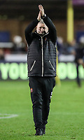 Blackpool's manager Terry McPhillips applauds his side's travelling fans at the end of the match<br /> <br /> Photographer Andrew Kearns/CameraSport<br /> <br /> The Emirates FA Cup Second Round - Solihull Moors v Blackpool - Friday 30th November 2018 - Damson Park - Solihull<br />  <br /> World Copyright © 2018 CameraSport. All rights reserved. 43 Linden Ave. Countesthorpe. Leicester. England. LE8 5PG - Tel: +44 (0) 116 277 4147 - admin@camerasport.com - www.camerasport.com