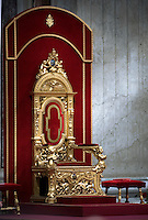 Papal Thrones; Trono Papale;Pope Benedict XVI celebrates the  mass on May 31, 2010 at St Peter's Basilica at the Vatican....