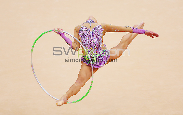 PICTURE BY VAUGHN RIDLEY/SWPIX.COM - London 2012 Olympic Games - Rhythmic Gymnastics - Wembley Arena, London, England - 11/08/12 - Korea's Yeon Jae Son competes in the Individual All-Around Final.