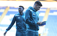 Tammy Abraham of Swansea City and Federico Fernandez take a look around prior to kick off of the Carabao Cup Third Round match between Reading and Swansea City at Madejski Stadium, Reading, England, UK. Tuesday 19 September 2017
