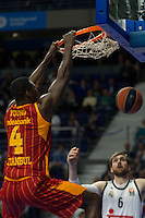 Real Madrid´s Andres Nocioni and Galatasaray´s Young during 2014-15 Euroleague Basketball match between Real Madrid and Galatasaray at Palacio de los Deportes stadium in Madrid, Spain. January 08, 2015. (ALTERPHOTOS/Luis Fernandez) /NortePhoto /NortePhoto.com