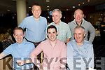 Seated L-R James Sugrue, John Sayers&Mike mangan, back L-R Declan Sheehan, Sean O'Connor&Maurice Quirke enjoying at night out in Kingdom Greyhound Stadium, Tralee last Saturday.