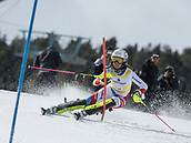 17th March 2018, Àvet Slope, Soldeu, Andorra; FIS Alpine Ski European Cup, Slalom Ladies Finals; 16 JENAL Stephanie from SUI  during the Giant Slalom Final