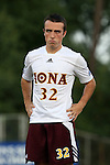 05 September 2015: Iona's Brendan Reardon. The Duke University Blue Devils hosted the Iona University Gaels at Koskinen Stadium in Durham, NC in a 2015 NCAA Division I Men's Soccer match. Duke won the game 2-1.