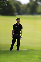 Dermot McElroy (NIR) plays his 3rd shot from the rough on the 9th hole during Sunday's Final Round of the Northern Ireland Open 2018 presented by Modest Golf held at Galgorm Castle Golf Club, Ballymena, Northern Ireland. 19th August 2018.<br /> Picture: Eoin Clarke | Golffile<br /> <br /> <br /> All photos usage must carry mandatory copyright credit (&copy; Golffile | Eoin Clarke)