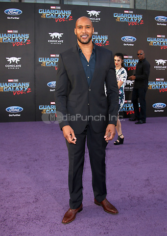 "HOLLYWOOD, CA - April 19: Henry Simmons, At Premiere Of Disney And Marvel's ""Guardians Of The Galaxy Vol. 2"" At The Dolby Theatre  In California on April 19, 2017. Credit: FS/MediaPunch"