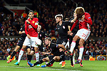 Marouane Fellaini of Manchester United fires a header at goal during the UEFA Europa League match at Old Trafford Stadium, Manchester. Picture date: September 29th, 2016. Pic Matt McNulty/Sportimage