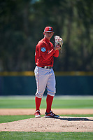 Boston Red Sox pitcher Matthew Kent (59) during a minor league Spring Training game against the Baltimore Orioles on March 16, 2017 at the Buck O'Neil Baseball Complex in Sarasota, Florida. (Mike Janes/Four Seam Images)