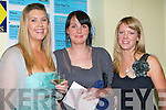 GOOD TIME: Having a good time at the Lee Strand evening of racing at the Kingdom Greyhound Stadium on Friday night l-r: Gemma Kane, Oakpark, Maire and Kate Spillane, Annagh..    Copyright Kerry's Eye 2008