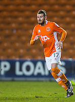 Mark Yeates of Blackpool during the The Checkatrade Trophy match between Blackpool and Wycombe Wanderers at Bloomfield Road, Blackpool, England on 10 January 2017. Photo by Andy Rowland / PRiME Media Images.