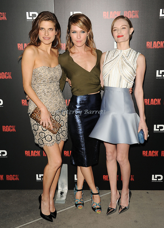 """Lake Bell, Katie Aselton and Kate Bosworth at the screening of """"Black Rock"""" held at the Arclight Theatre in Los Angeles, CA. on May 8, 2013."""