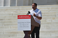 August 24, 2013  (Washington, DC)   Marc Morial, President of the National Urban league,  speaks to a crowd of thousands on the grounds of the Lincoln Memorial in the District of Columbia during the 50th anniversary of the 1963 March on Washington August 24, 2013.  (Photo by Don Baxter/Media Images International)