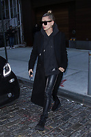 NEW YORK, NY - JANUARY 25: Hailey Baldwin seen arriving at Gigi Hadid's apartment on January 25, 2018 in New York City. Credit: DC/MediaPunch