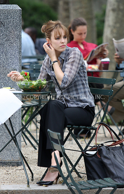 WWW.ACEPIXS.COM . . . . .  ....June 28 2009, New York City....Actress Rachel McAdams on the Bryant Park set of the new movie 'Morning Glory' on June 28 2009 in New York City....Please byline: AJ Sokalner - ACEPIXS.COM..... *** ***..Ace Pictures, Inc:  ..tel: (212) 243 8787..e-mail: info@acepixs.com..web: http://www.acepixs.com