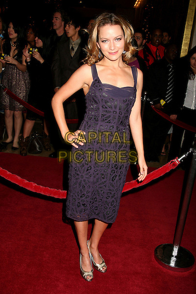 BECKI NEWTON.The 8th Annual Family Television Awards at the Beverly Hilton Hotel, Beverly Hills, California, USA..November 29th, 2006.full length purple dress hand on hip.CAP/ADM/BP.©Byron Purvis/AdMedia/Capital Pictures