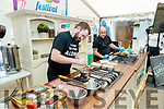 Chad Byrne, group development chef for the Gleneagle group, and Chef Gorka Arrieta Sol y Sombra Tapas Bar & Restaurant, Killorglin at the cooking demonstration at Tralee Food Fair on Sunday.