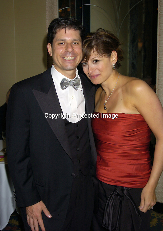 "Maria Bartiromo and husband Jonathan Steinberg..at The 60th  Boys' Towns of Italy  ""Ball of the Year""  on..April 8, 2005 at The Waldorf Astoria Hotel. ..Photo by Robin Platzer, Twin Images"