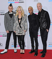 No Doubt at The 2012 American Music  Awards held at Nokia Theatre L.A. Live in Los Angeles, California on November 18,2012                                                                   Copyright 2012  Debbie VanStory / iPhotoLive.com