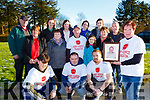Maria O'Leary launching the Brendan O'Leary Memorial fun walk which will be held in Kilcummin in aid of the Pallitive Care in UHK on Sunday 17th February front row l-r: Jaden Tynan, David Sheehan, Padraig O'Sullivan. Middle row: Kathleen O'Leary Theresa Bruston John Shehan, Eve O'Leary, Noreen Nagle, John O'Leary, Back row: Jim McCarthy, Juliet Culloty, Katie O'Leary, Louise O'Leary, Niamh O'Leary,