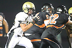 Beverly Hills, CA 09/23/11 - Justin Evans (Peninsula #76) in action during the Peninsula-Beverly Hills Varsity football game.